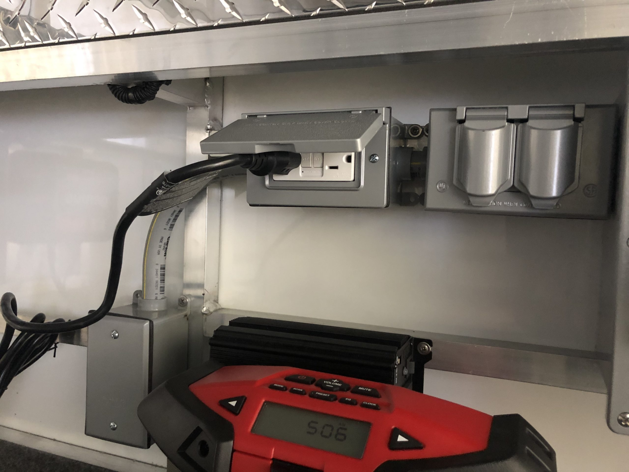 110 Power Center With Two Gfci Protected Outlet Boxes And
