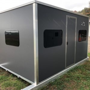 8 X 10 Five Window, Single Door Skid House